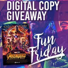 Avengers Infinity War Digital Giveaway