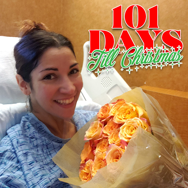 Rethinking rest from a hospital bed. Might as well take a selfie with the beautiful flowers my husband brought me!